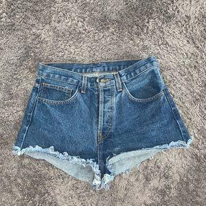 John Galt/Brandy Melville Blue Denim Shorts